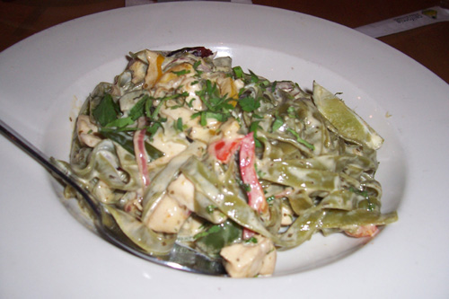 chicken tequila fettuccine $ 13 49 spinach fettuccine with chicken
