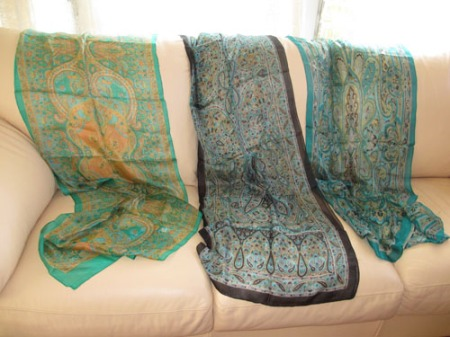 neck ties, scarves from India 003-A