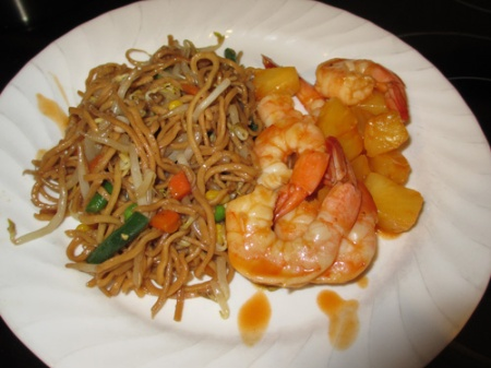 Chow mein, Shrimp pineapple 004-A