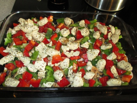 Baked veggies with chicken 003-A