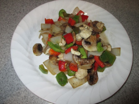 Baked veggies with chicken 009-A