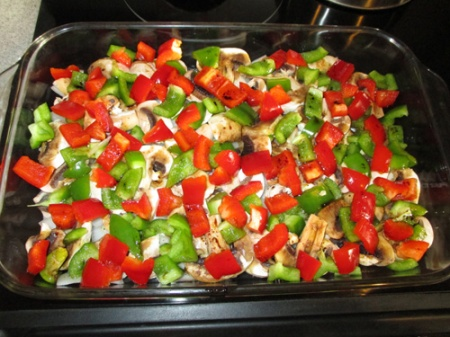 Baked veggies with chicken 001-A