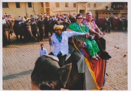 Elephant ride India 2012-A
