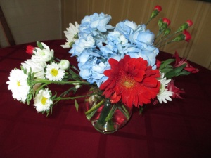 Red white blue flowers 012-A