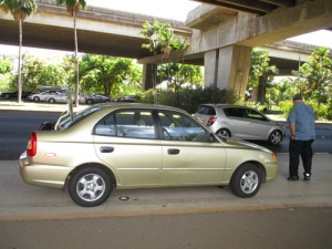 Flo, Pineapple Rm, flat tire 007-A