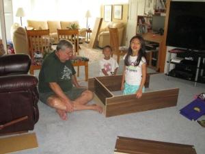 Grandkids, bookcase 028-A