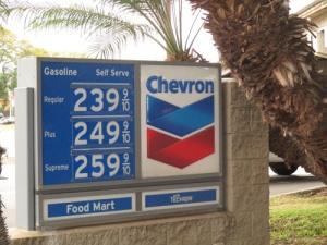Chevron gas prices 008-A