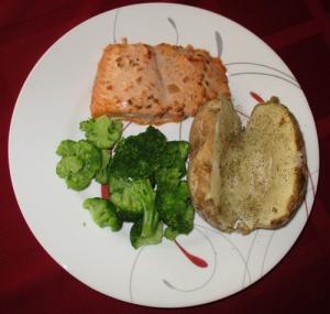 Salmon with salsa, mayo, cumin 003-A