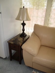 New end tables, lamps 007-A