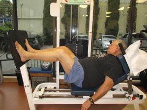 leg press, stretching, ice 008-A