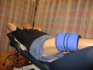leg press, stretching, ice 020-A