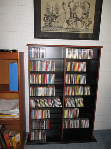 CD cabinet reorganized 003-A